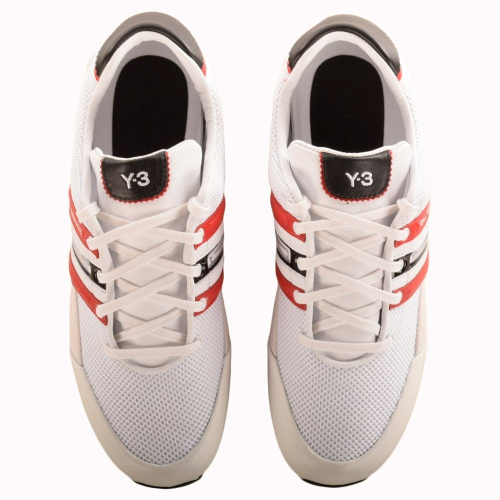 Sprint White \u0026 Red Trainers - Sneakers