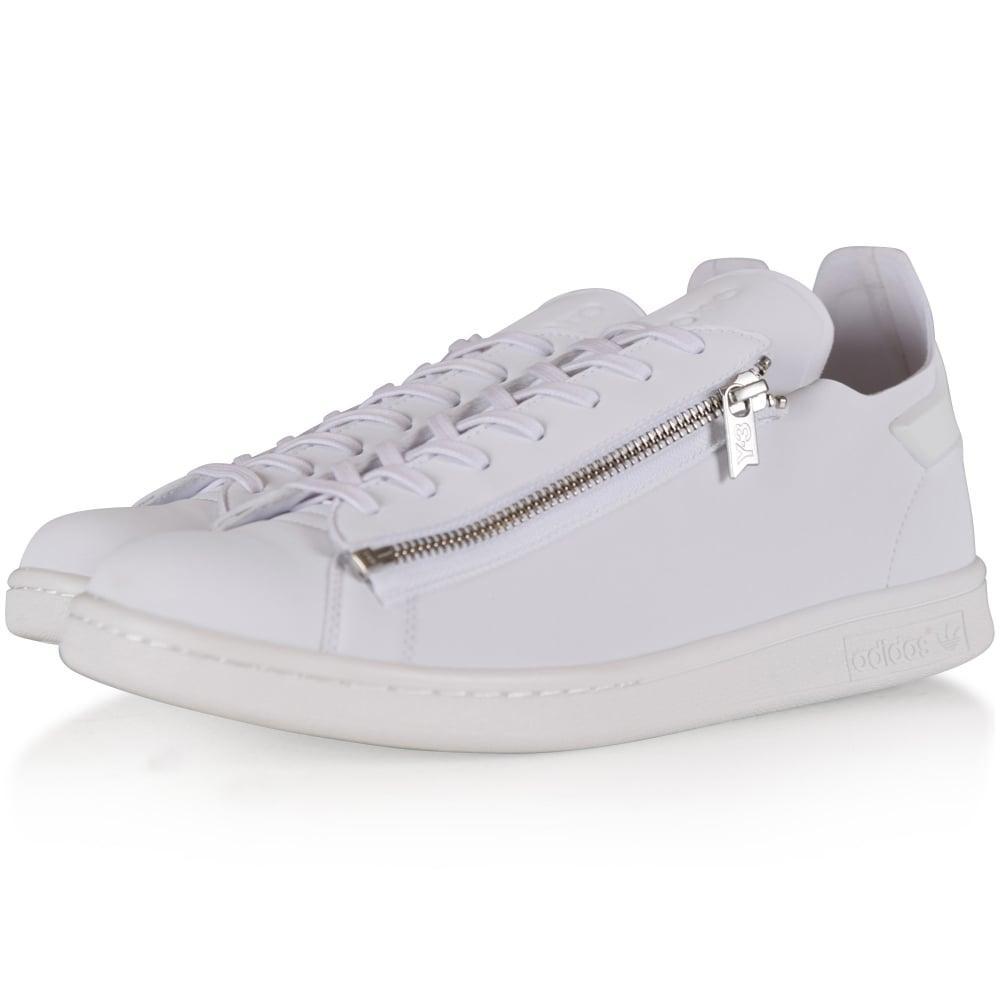Silver Stan Zip Trainers - Sneakers