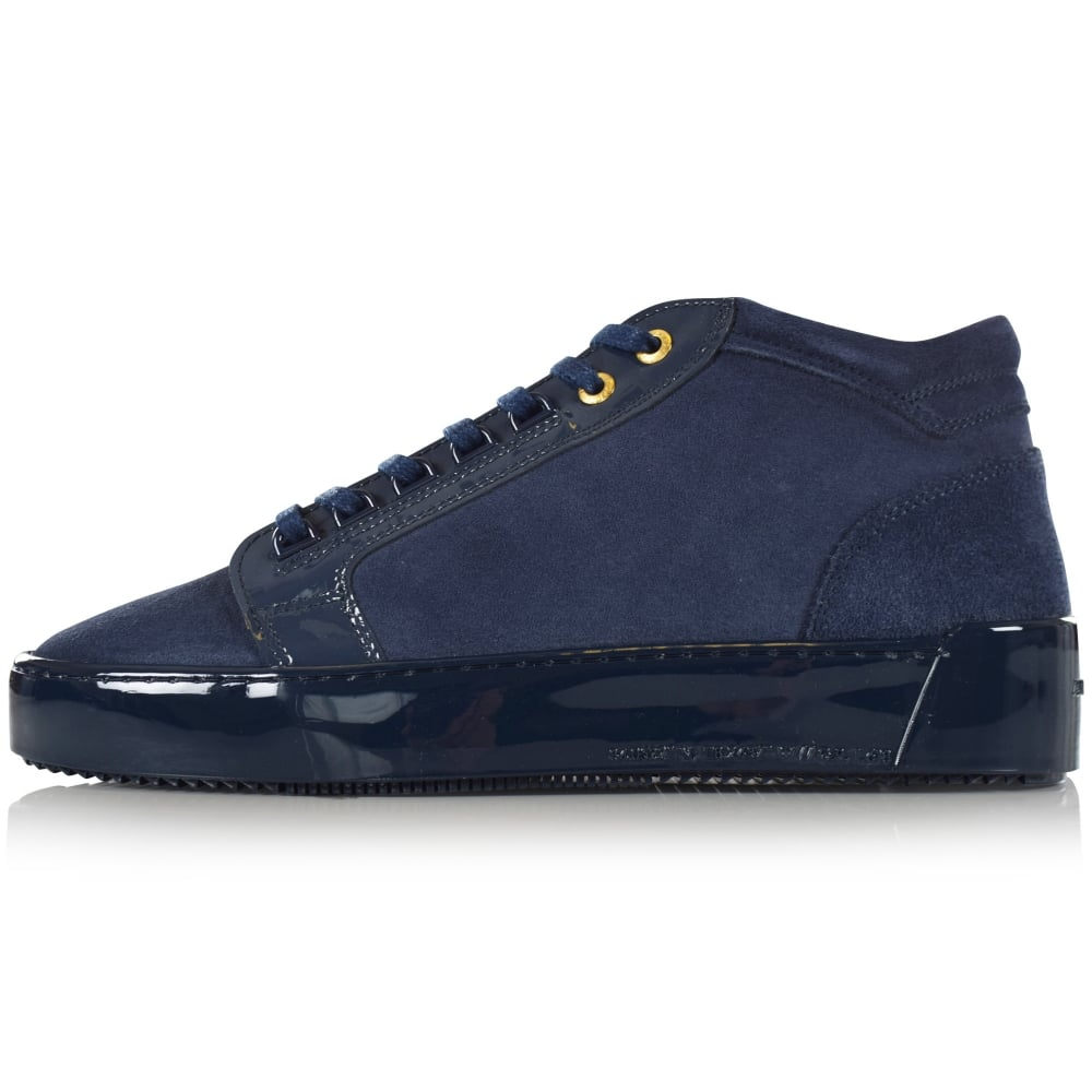 Android Homme Android Homme Mid Propulsion Suede Trainers In Navy Footwear From Brother2brother Uk