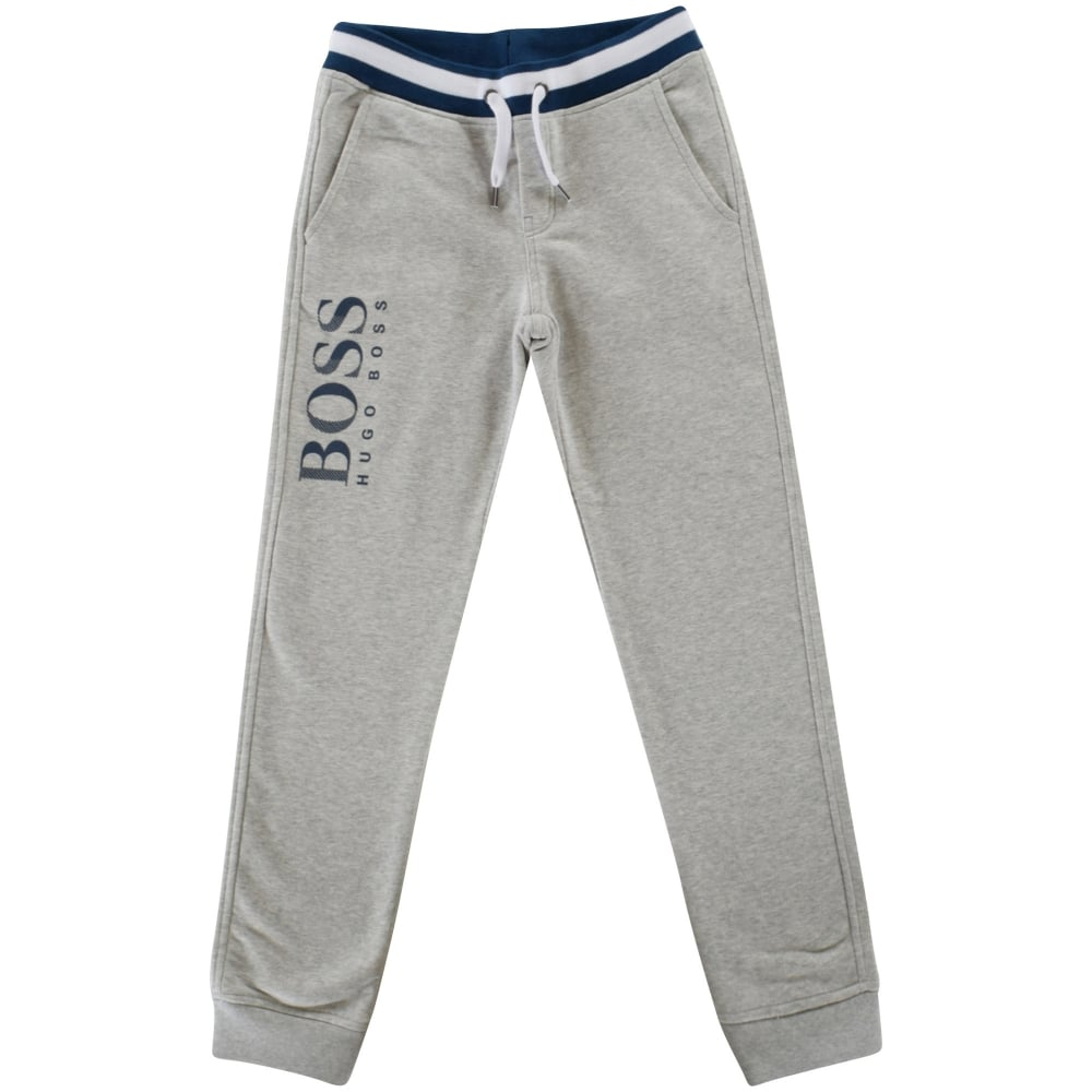 light grey hugo boss tracksuit