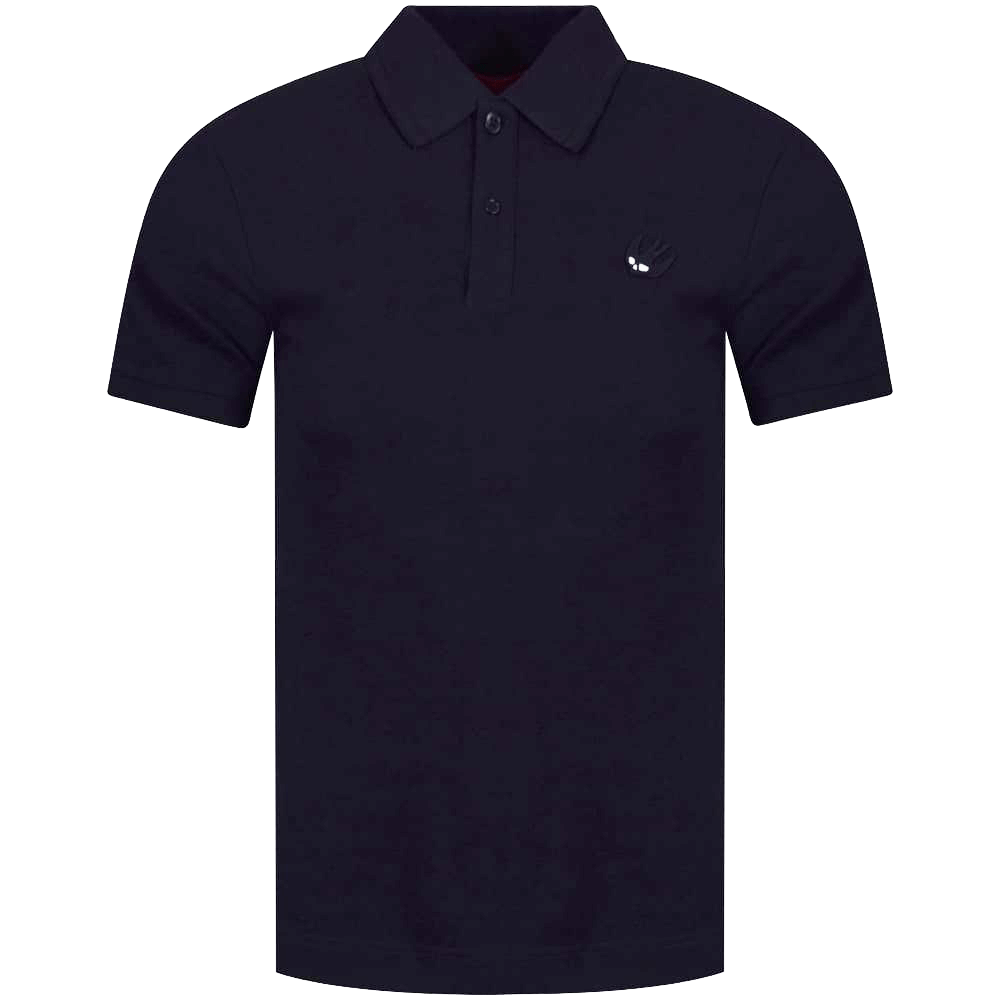 mcq swallow mcq by alexander mcqueen navy black swallow logo polo shirt polo shirts from brother2brother uk mcq swallow mcq by alexander mcqueen navy black swallow logo polo shirt