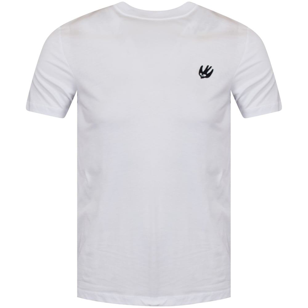 mcq swallow mcq by alexander mcqueen white black swallow logo t shirt t shirts from brother2brother uk mcq swallow mcq by alexander mcqueen white black swallow logo t shirt