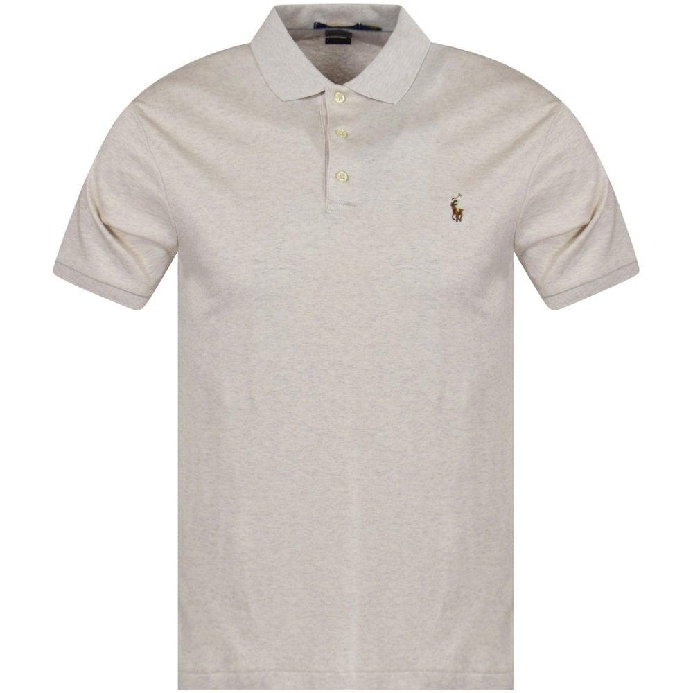 POLO RALPH LAUREN Beige Logo Polo Shirt