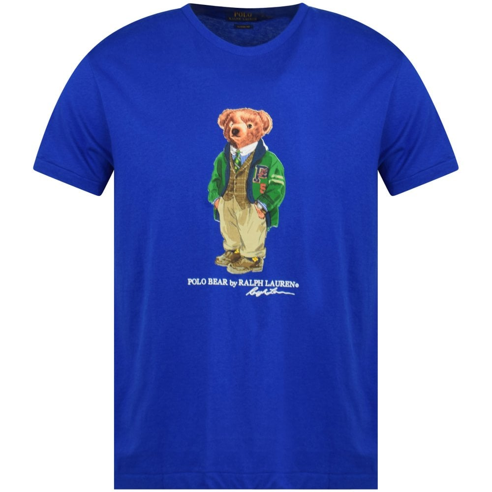POLO RALPH LAUREN Blue Polo Bear Print T-Shirt