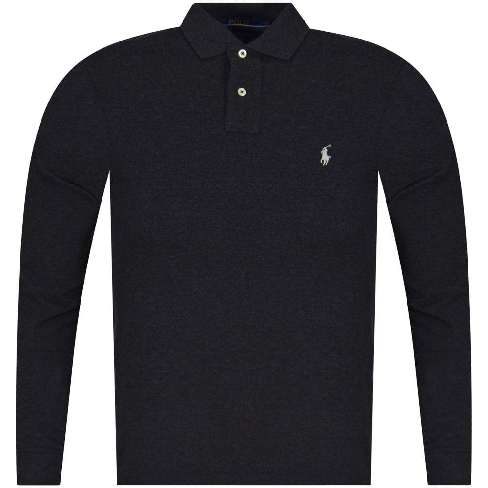 POLO RALPH LAUREN Granite Long Sleeve Polo Shirt