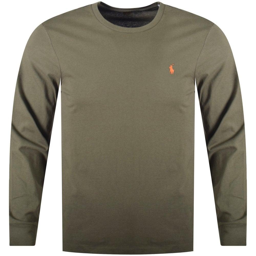 POLO RALPH LAUREN Green Long Sleeved Custom Slim Fit T-Shirt