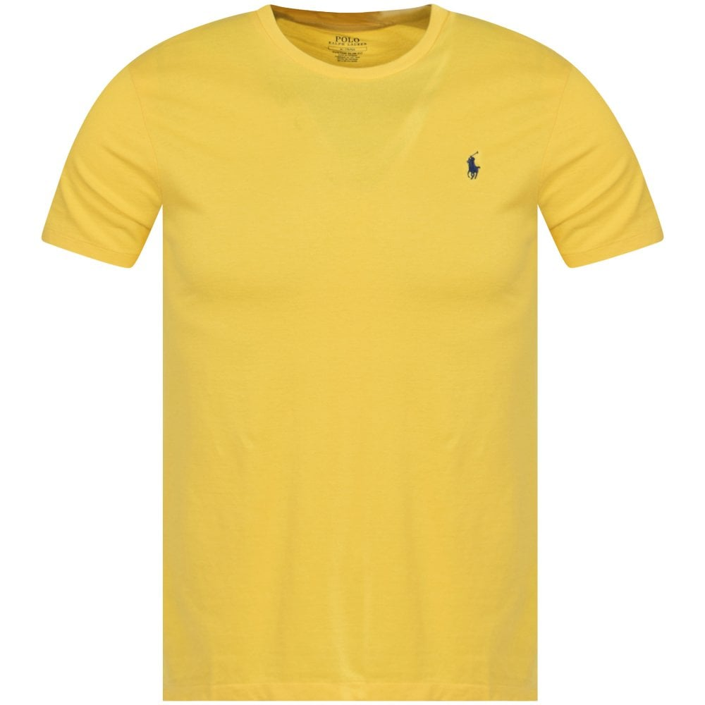 POLO RALPH LAUREN Yellow Logo Custom Slim Fit T-Shirt
