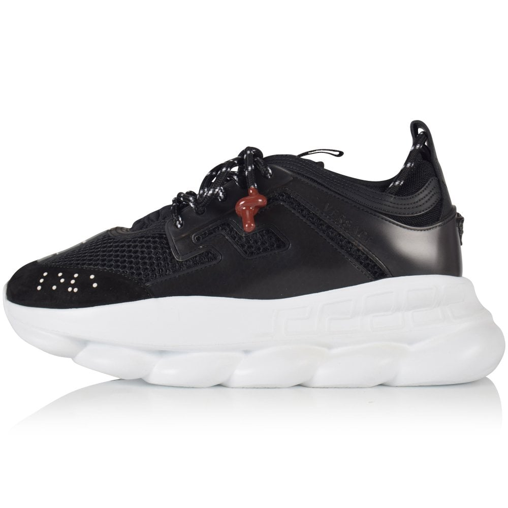 VERSACE Black Chain Reaction Trainers