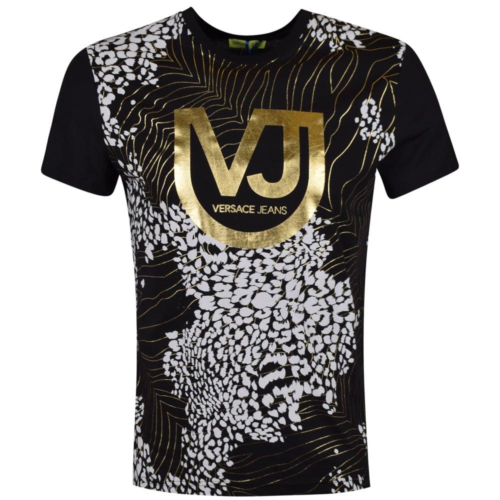 75186b5cff Versace Jeans Black/Gold Print T-Shirt
