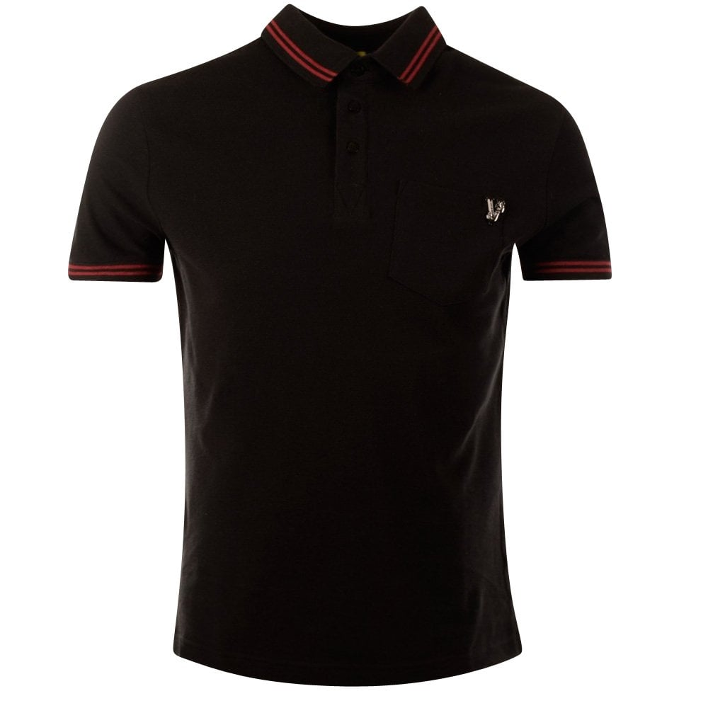 47a11c5f VERSACE JEANS BLACK & RED POLO SHIRT - Polo Shirts from ...